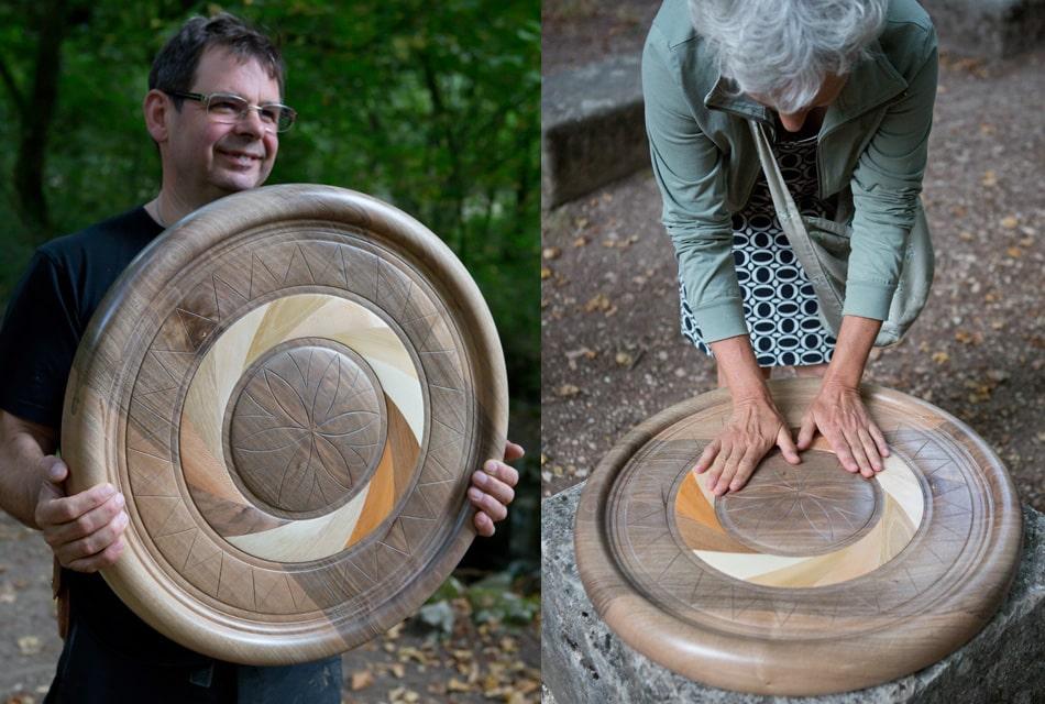 Mandala de la Vie - Dominique Bridel - Bois relié Armelle Photographe