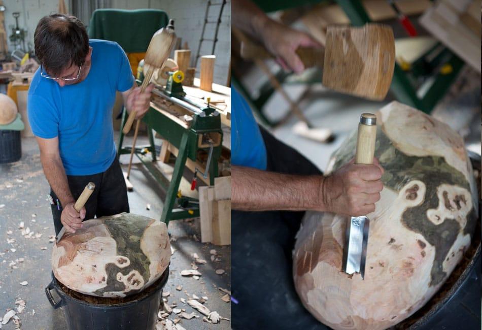 Gros galets, par Dominique Bridel - Bois relié